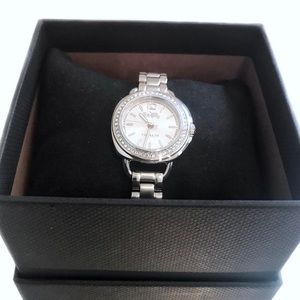 NWT Coach Silver Cubic Zirconia Watch